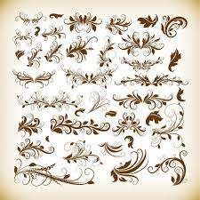 Decorative Design Custom Free Vintage Decorative Design Elements Vector Graphics Set PSD