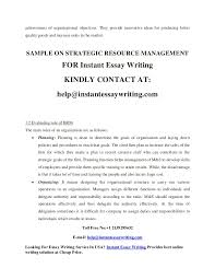 sample on strategic resource management  4