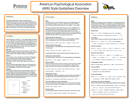 Topic Apa Reference Guide Poster Early Childhood Education Study