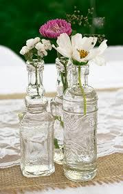 clear vintage glass bottles