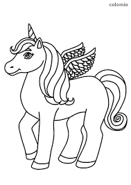 Print unicorn coloring page coloring page & book. Unicorns Coloring Pages Free Printable Unicorn Coloring Sheets