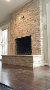 stacked stone fireplace google search