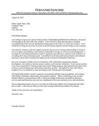 Sample Cover Letter For International Development Job Eursto Com