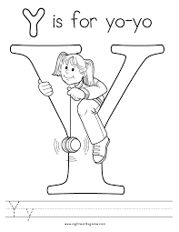 Small Picture Y Coloring Pages