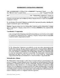 Available for immediate download and use over and over again. Independent Contractor Agreement Template Approveme Free Contract Templates