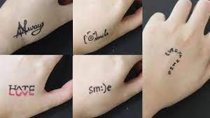 Ngoài ra nếu bạn muốn tự bản thân lên ý tưởng tattoo chữ theo phong cách riêng biệt, có thể dựa vào các phong cách xăm tại đây để lấy cảm hứng nhé. Những Hinh Xăm Ä'ược Vẽ Bằng But Bi Ä'Æ¡n Giản How To Make Tattoo At Home With Pen Youtube