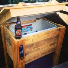 pallet cooler stand featured how to build a from pallets diy wooden ice chest
