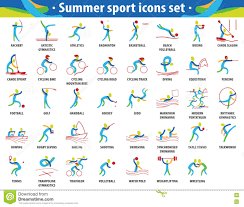 Abstract Color Sport. Summer Olympic ...