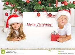Christmas Photo Kids Kids Laying Under The Christmas Tree Stock Photo Image Of