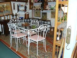 Vintage Dinette Set Kitchen Table And Chairs Glass And Wrought