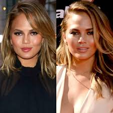 Chrissy teigen got full hair and makeup for her dmv photo and celebrity hairstylist justin marjan did her look. Chrissy Teigen Gets A Long Bob Haircut E Online