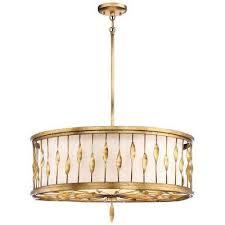 olivetas 5 light terrace gold leaf pendant