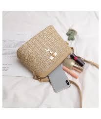 Best Purse Light Fashion Straw Women Crossbody Bag Boho Beach Shoulder