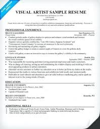 Artist Resume Template Impressive Artist Resume Sample Visual Artist Resume Resume Samples Across All