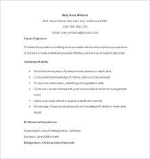 Retail Clothing Sales Associate Resume Resume And Cover Letter