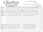 Scorecard & Course Layout