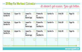 21 Day Fix Workout Schedule My Crazy Good Life
