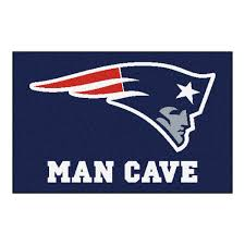 fanmats nfl new england patriots blue man cave 2 ft x 3 ft area