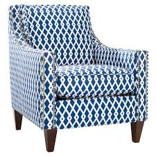 furniture luxurious navy blue accent chair for home interior