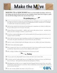 Printable Moving Checklist Sheknows