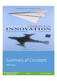 Roberto Verganti Design Driven Innovation Pdf Pdf Summary Of Concepts Discussed In The Book Titled