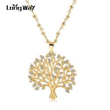 whole longway long necklaces tree of life pendants for men women necklace pendant silver color gold color statement gifts sne160112 silver necklaces