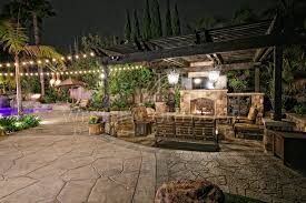 outdoor living room fireplace patio cover