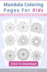 Coloring mandalas is more than a way to creativity, it is an act of the soul, to coloring is a fun way to develop your creativity, your concentration and motor skills while forgetting daily stress. Mandala Coloring Pages For Kids 10 Free Printable Worksheets