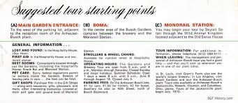 Six Panel Brochure Brochures Bgt History Busch Gardens Tampa History