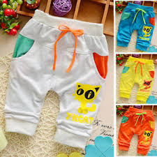 Details About Infant Baby Boys Clothes Cotton Clothing Pants Kids Toddler Boy Shorts Trousers