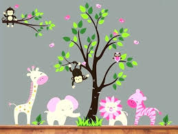 jungle wall decals for nursery theme baby ideas girl monkey t