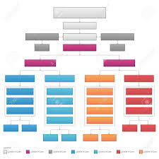 Vertical Organizational Corporate Flow Chart Vector Graphic