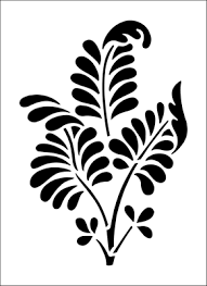 Budget Stencils Ferns Solo Stencil From The Stencil Library Budget Stencils