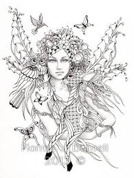 Free Printable Coloring Pages For Adults Fairies At Getcoloringscom