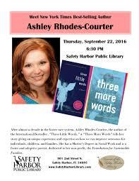 Meet Author Ashley Rhodes-Courter, Safety Harbor Public Library at Safety  Harbor Public Library, Safety Harbor FL, Literary