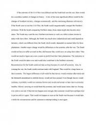Civil War Essay If The South Had Won The Civil War Essay