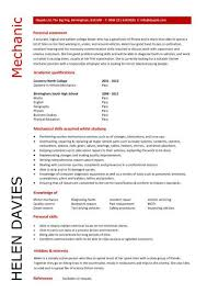 Mechanic Resume Template Student Entry Level Mechanic Resume Template  Template