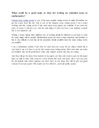 essay mathematics extended essay mathematics