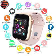 Z6 Bluetooth akıllı saat desteği Android telefon 2G SIM TF kart kameralı  kol saati dokunmatik ekran kadın spor saati PK V8 A1 akıllı saatler Akıllı  Saatler