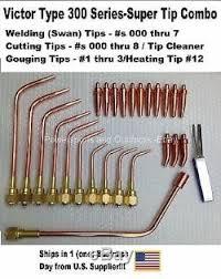 Victor Brazing Tip Chart Victor Type Hd 300 Series Super Torch Tip Set Welding
