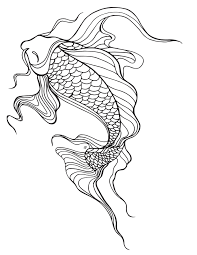 Small Picture Koi Fish Coloring Page Koi Fish Art Coloring Page Free Printable