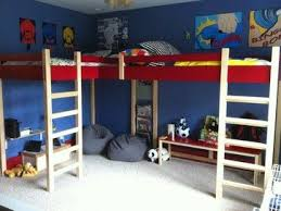 Double Loft Bed modern kids beds. That solves the fight over who gets top  bunk | For the boys | Pinterest | Double loft beds, Modern kids beds and  Modern ...