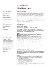 Mental Health Nurse Cv Sample Career History Resume