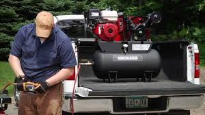 gas powered air compressor. northstar portable gas-powered air compressor - honda gx390 ohv engine, 30-gallon horizontal tank, 2 youtube gas powered