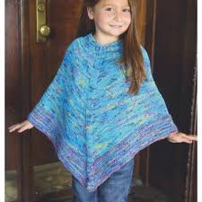 Knit Poncho Pattern Fascinating Plymouth Yarn 48 Kid's Poncho At WEBS Yarn