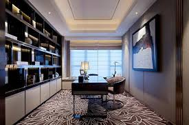 luxury home office. fantastic luxury home office design for women with built in bookshelves also floral pattern rug plus