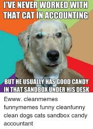 candy dogemes tvenever worked nith that cat in accounting but he