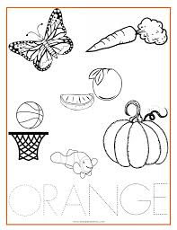 Color Orange Coloring Pages