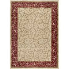 8 x 10 large ivory gold and red area rug elegance rc willey furniture