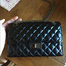 Zara - Quilted faux leather chain crossbody from Melissa's closet ... & Quilted faux leather chain crossbody Adamdwight.com
